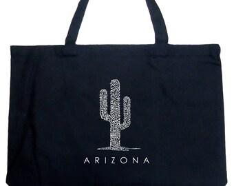 Large Tote Bag - Created Using Popular Arizona Cities