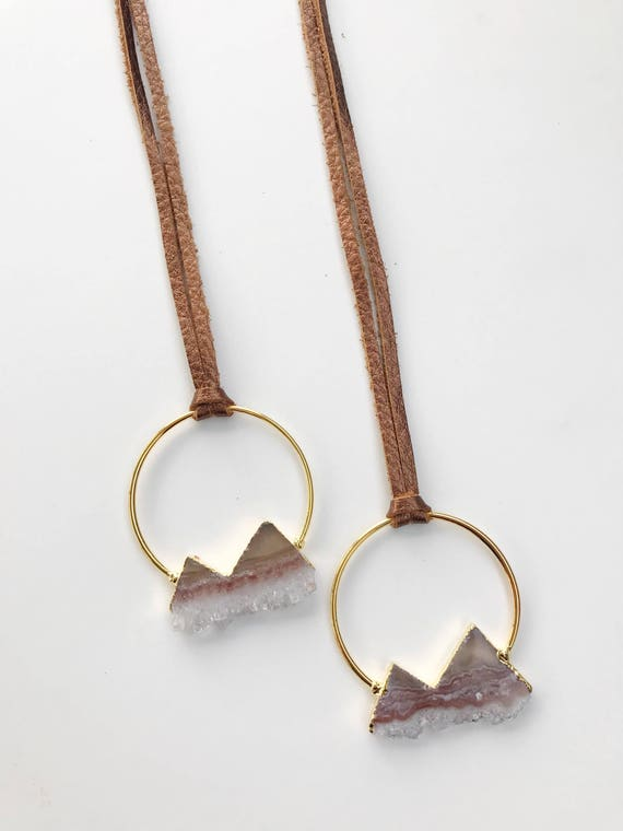 Leather Mountain Necklace