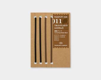 Traveler's Notebook 011 Connecting Rubber Band | Refill for Passport Size Traveler's Notebook | Midori Insert (14335006)