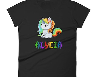 Alycia Unicorn Ladies T-Shirt