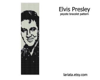 Elvis Presley - Peyote Bracelet Pattern - INSTANT DOWNLOAD