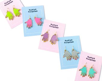 HAND EARRINGS - choose your color