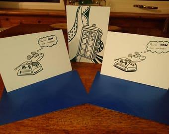 Doctor Who K9 Tardis Birthday Card