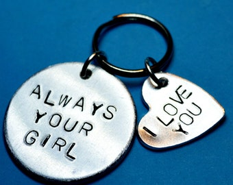 Boyfriend gift / Anniversary gift for him / Always your girl keychain / Gift ideas Husband Wedding gift, Gifts for men, Gifts for boyfriend