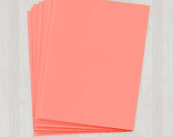 100 Sheets of Cover Stock - Coral and Peach - DIY Invitations - Paper for Weddings & Other Events