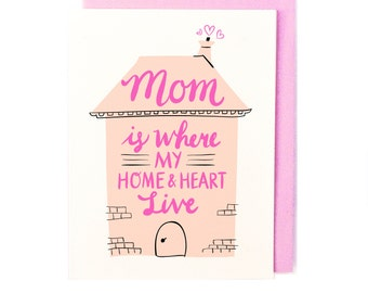 Mom is Home Card