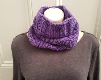 Purple Pineapple Cowl and Hat