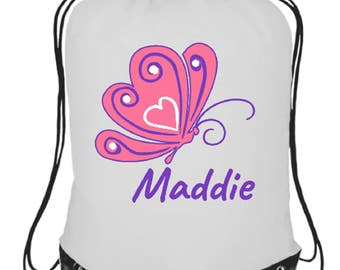Personalised your name's dance, school, pe, gym  bag girls butterfly customised gift