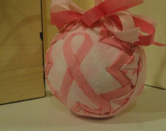 Quilted Breast Cancer ornament