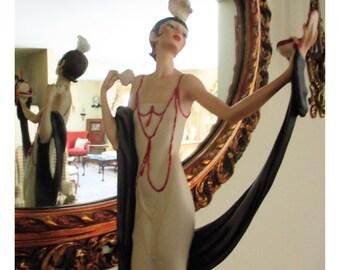 G. Armani, Art Deco Female with Powder Puff & Mirror
