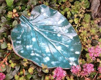 Bird Bath Leaf Garden Sculpture