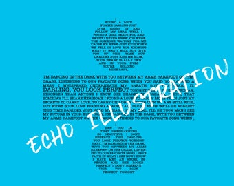 Ed Sheeran PERFECT Typography Lyrical + Album Art