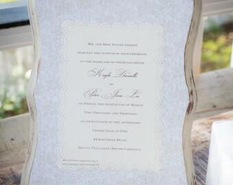 Keepsake Wedding Invitation Plaque