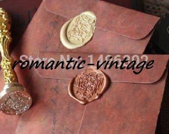 5 nice vintage 16 * 11cm kraft envelopes