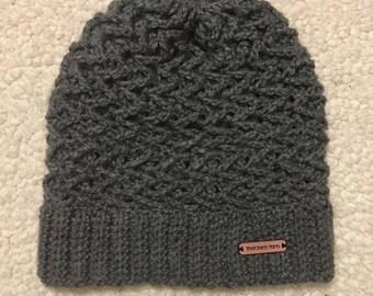Crochet hat, zig zags for days!