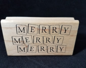 Merry Merry Merry  Rubber Stamp View all Photos