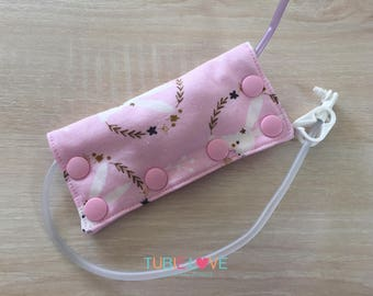 Pink Bunnies Feeding Tube Connector Cover/Port Cover