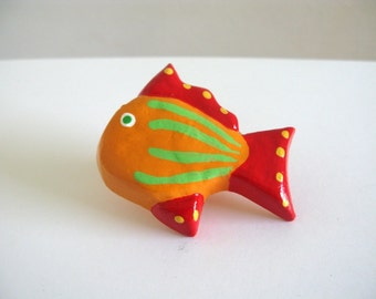 Orange Fish - Ceramic Drawer Knob