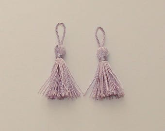 2 tassels tassels decoration 4.5 - 5 cm purple color