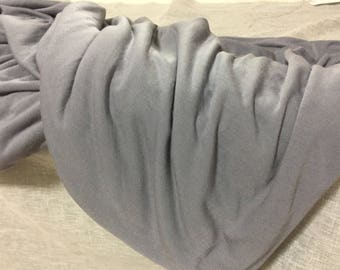 2 yards GrayJersey knit/ soft jersey knit/scarf knit fabric/knit fabric/stretchy fabric/soft stretchy knit fabric - K11