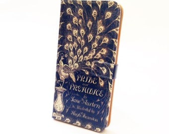 Book phone /iPhone flip Wallet case-Pride and Prejudice for  iPhone X, 8 7 6, 6 7 & 8 plus, 5 5s 5c, Samsung Galaxy S9 S8 S7 S6 Note 4 5 7 8