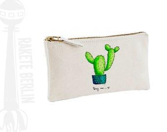 pencil case 'Cactus - Hug me.'