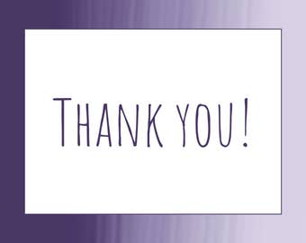 Ombre Brush Strokes Thank You Card