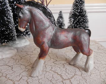 ceramic clydesdale draft horse figurine statue sculpture