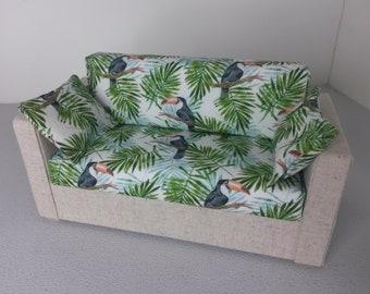 Modern Miniature Dollhouse Sofa Couch 1:12 Scale