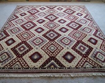 9'9''x12'3'' Large Oushak Rug, Boho Area Carpet, Handwoven Turkish Rug DISCOUNTED!