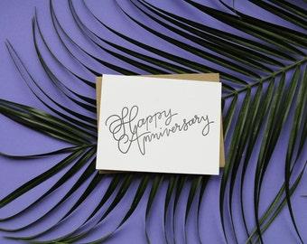 Happy Anniversary Letterpress Card