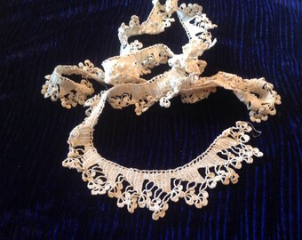 Vintage crocheted lace