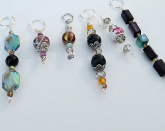 Set of 6 zipper pulls, cell phone charms # 11