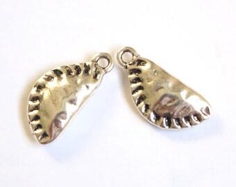 Charm shoe Apple / empanada silver-plated 22x10mm