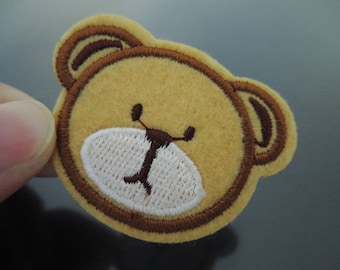 Iron on Patch - Cute Bear Patches Iron on Applique embroidered patch Brown Bears Patches Sew On Patch