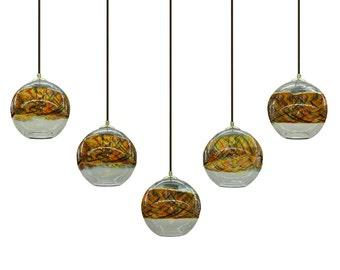 Sunset Banded  Pendant  Chandelier Hanging Light by Rebecca Zhukov
