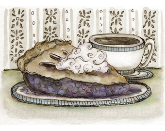 Pie and Coffee Print