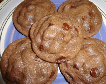 Perfectly Soft & Chewy Homemade Nutella Chocolate Chip Cookies (2 Dozen and Choice of Chip)