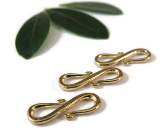 Gold S Hook, Vermeil S Clasp, Set of 3 Vermeil Clasps, Gold Findings, Jewelry Supplies, Easy to Use