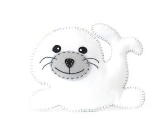 Seal Sewing Pattern, Stuffed Plush Seal Hand Sewing Pattern, Instant Download PDF, Baby Seal Plushie, Seal Softie, Felt Seal Sewing Pattern