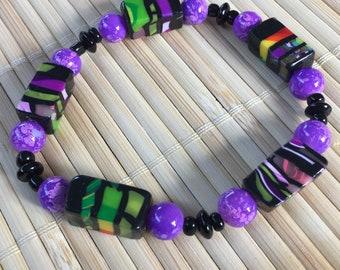 Modernes Design Perlen Armband Stretch - verstellbare Schmuck für Frauengeschenk für Mama Lehrer Frau Freundin Geburtstag