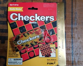 Miniature Magnetic Checkerboard Game