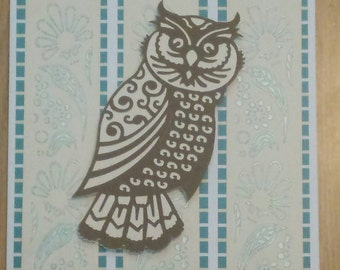 Handmade Ornate Owl Card