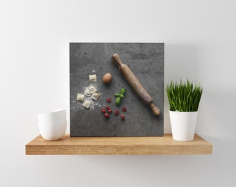 pasta v. two // food photography print // canvas wall art // kitchen wall art // dining room wall art // rustic wall art // italian food