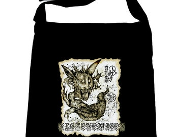 Necronomicon Demon Crossbody Sling Bag Book of the Dead Occult - SB-2015038