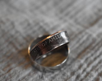 Hand Made Quarter Ring, One of a Kind!
