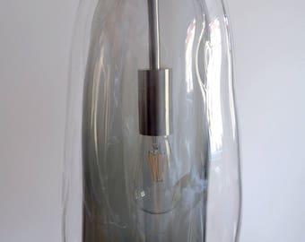 Original handmade glass chandelier, lighting