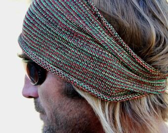 EXTRA Wide Rasta Dreadlocks Headband, Mens Headband, Rastafari Headwrap, Mens Dreads, Dreadband, Dread Wrap, Dread Accessories, Locs Sock