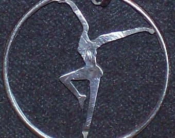 Dancer Hand Cut Coin Jewelry