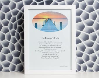 The Journey Of Life A4 Print - Hand Crafted